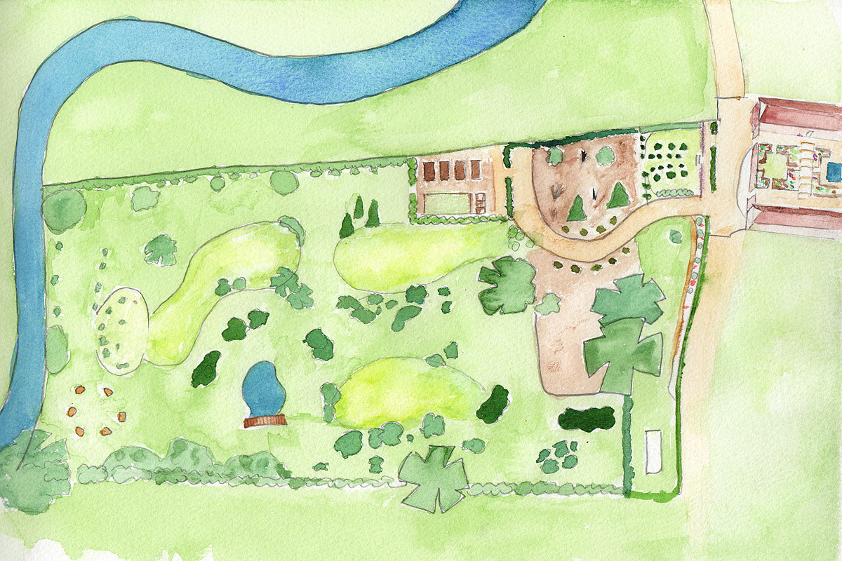 river barn garden plan