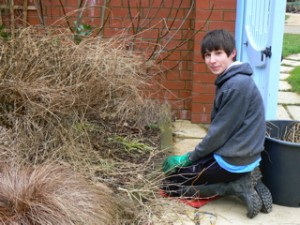 Matthew finding hedgehog nest