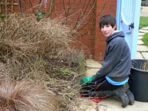 Matthew finding hedgehog nest